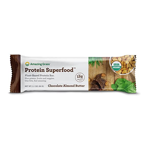 Amazing Grass - La proteína orgánica Superfood barra la mantequilla de la almendra del chocolate de