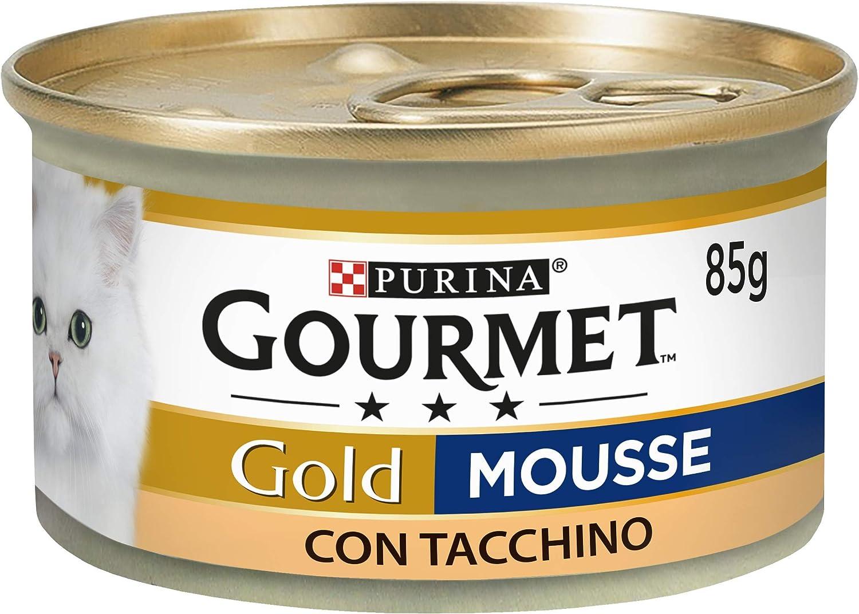 Purina Gourmet Gold Húmedo Gato Mousse con Pavo, 24 latas de 85 g Cada una de 24 x 85 g