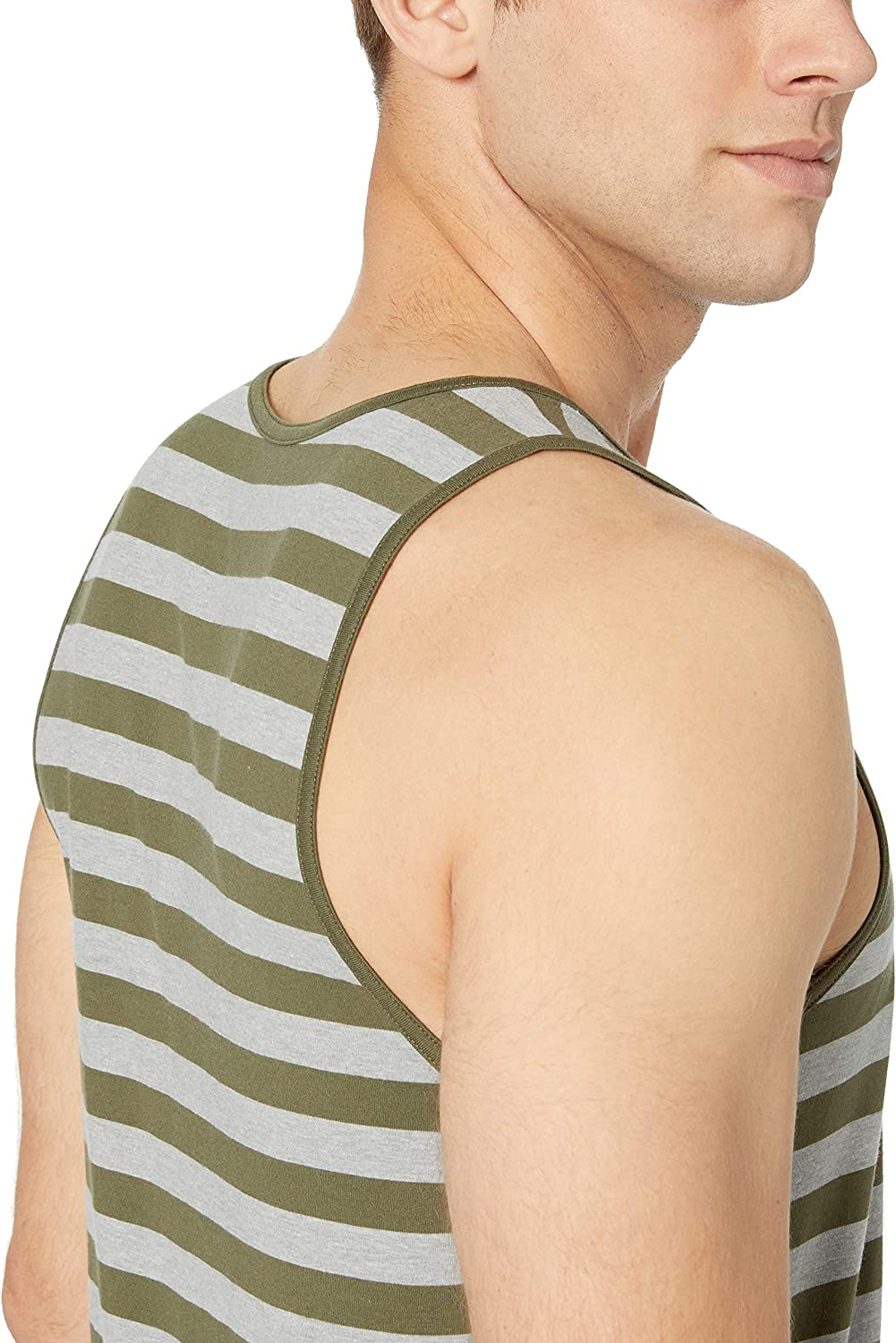 Essentials Regular-fit Stripe Tank Top Hombre
