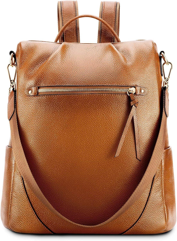 Kattee Backpack Purse Leather Anti-theft RucksackShoulder Bag Travel Bag for Women Large Daypack