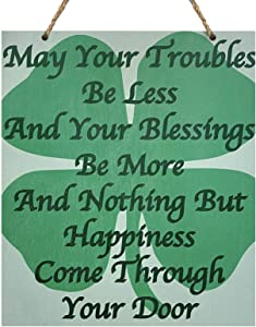 JennyGems Wood Sign, Irish Pride | Irish Blessing | Irish Theme Kitchen Wall Decor and Accessories | Irish Signs Irish Gifts | Made in USA
