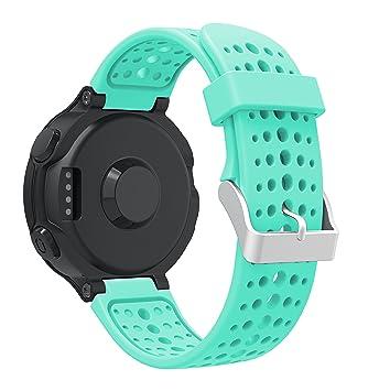 TOPsic Garmin Forerunner 235 Correa, Reemplazo Suave Silicona Watch Band Deportiva Accessorios de Reloj Pulsera Ajustable para Garmin Forerunner ...