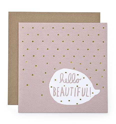 Mamas & - Tarjeta de felicitación para bebé, color rosa ...