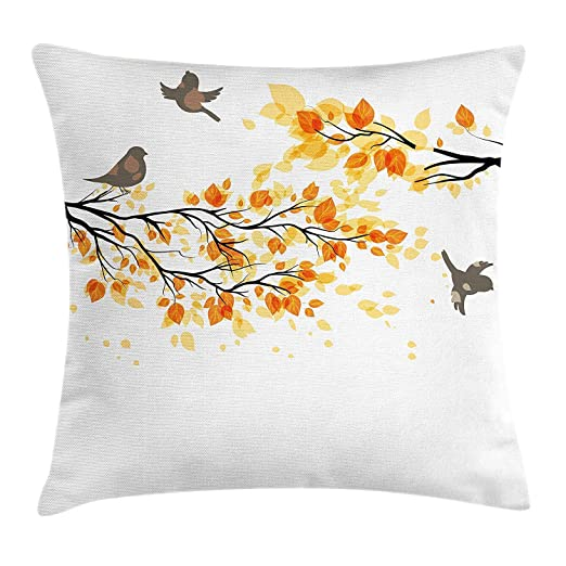 FPDecor Fall Decorations Funda de Almohada, Branch Pale Fall ...