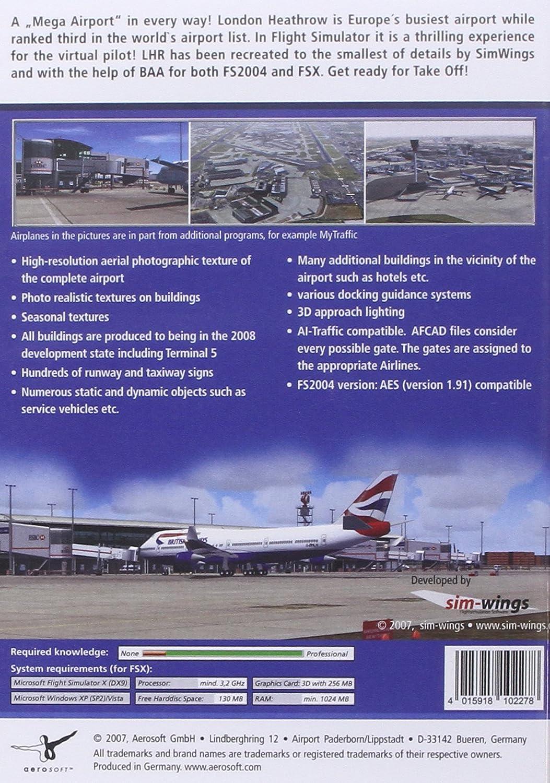 Mega Airport: London Heathrow Add-On for FS 2004/FSX (PC CD): Amazon