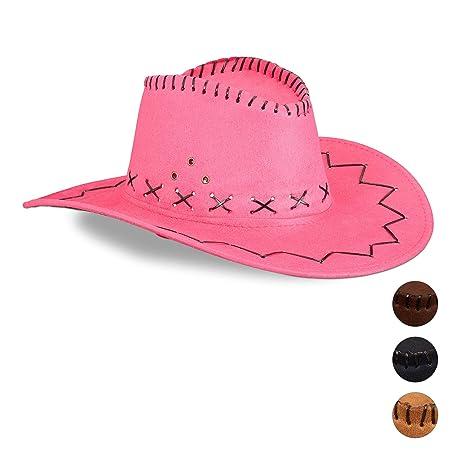 Relaxdays Cappello da Cowboy Cowgirl per Feste di Carnevale e367d25c8b15