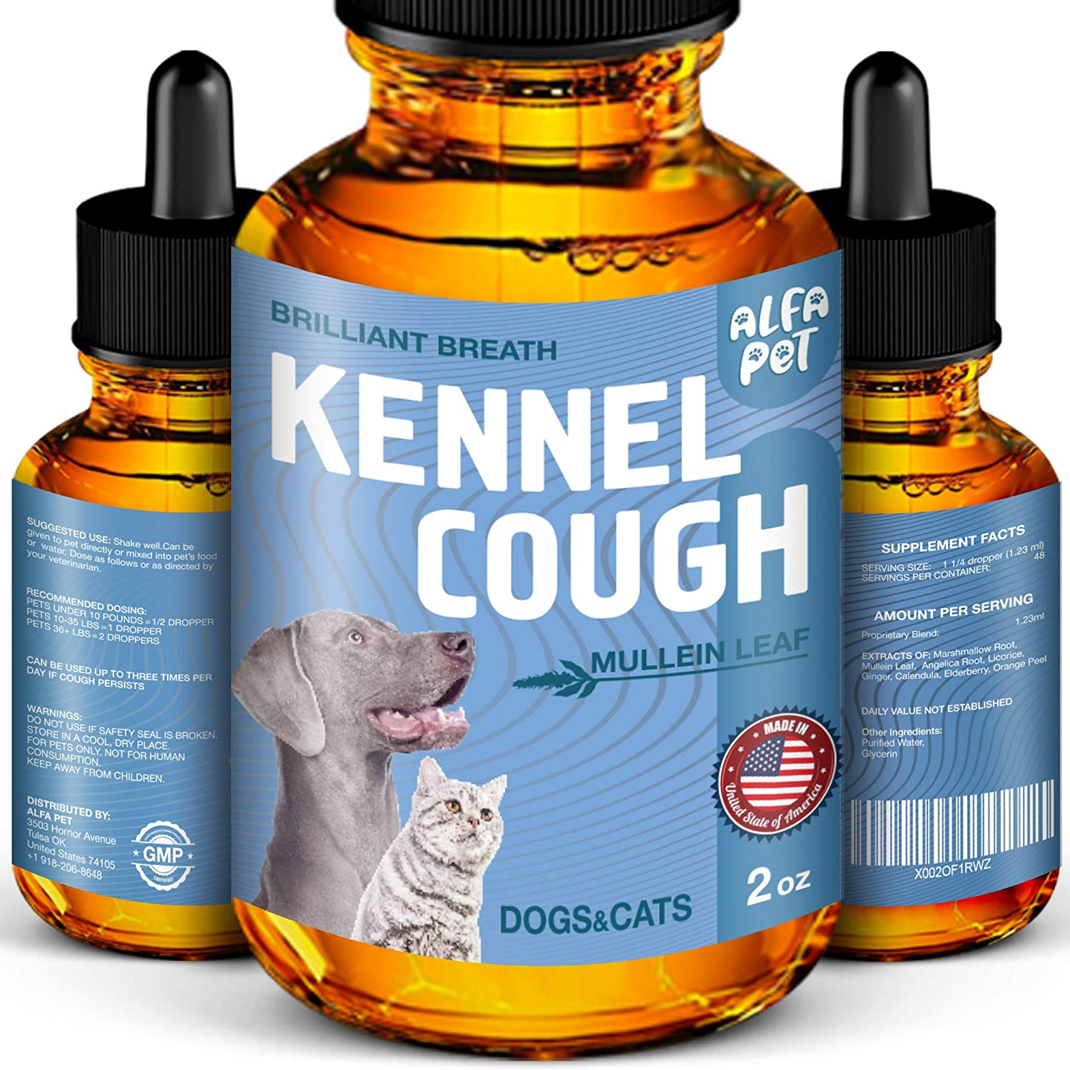 Dog Cough - Kennel Cough - Dog Allergy Relief - Supplements For Dogs & Cats Health - Allergy Relief Immune Supplement for Dogs - for Dry, Wet & Barkly Pet Cough - Suitable For All Sizes