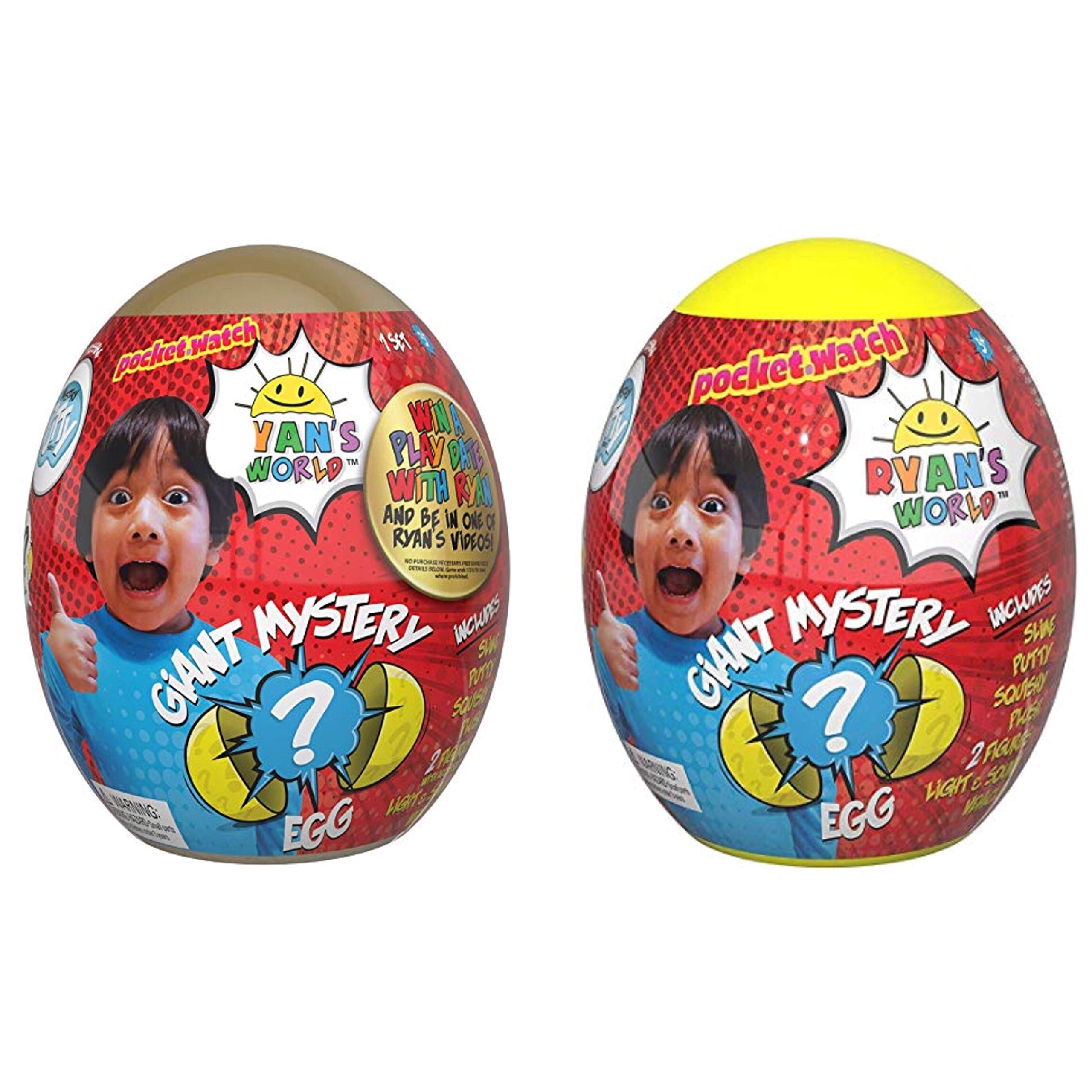 Ryan's World Giant Gold and Yellow Mystery Egg Bundle
