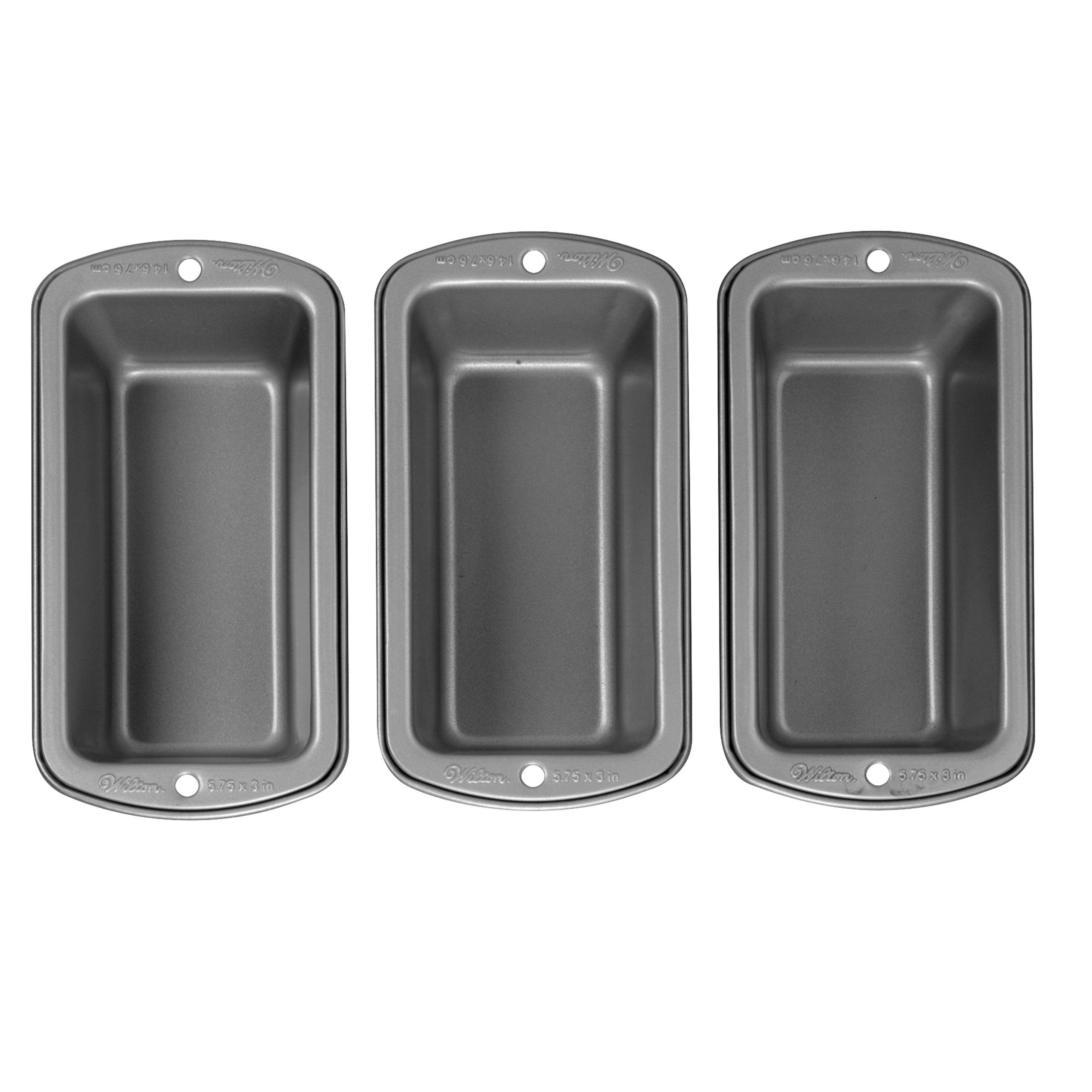 Wilton Recipe Right Non-Stick Mini Loaf Pan Set, 3-Piece by Wilton