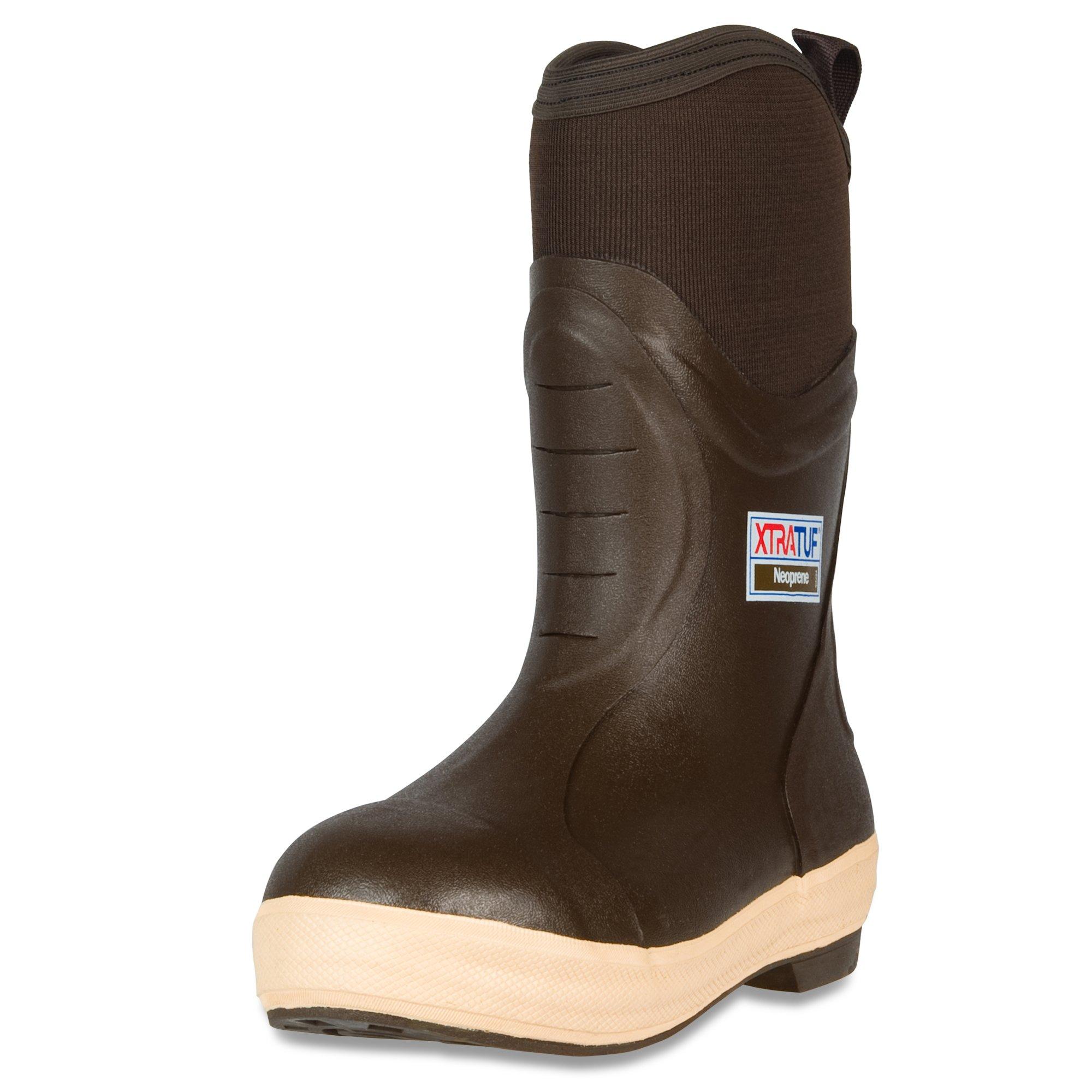 XTRATUF Elite Series 12'' Neoprene Insulated Men's Fishing Boots, Chocolate & Tan , 10 , (22612)