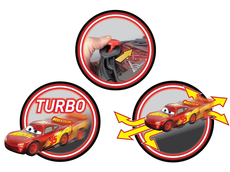 Dickie Toys 203084010 Cars 3 rrc Turbo Racer Lightning Mcqueen RC Coche, Coche Teledirigido, 1: 24, 17 cm: Amazon.es: Juguetes y juegos