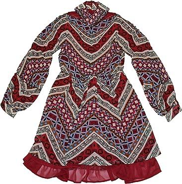 Highly Preppy Vestido Cruzado Estampado geométrico para Mujer