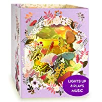LIGHT & MUSIC Mothers Day Pop Up Card – 3D Box Flowers Light Up & Pop-Up Cards – Plays Song 'YOU RAISE ME UP' – Happy Mothers Day Greeting Card for Mum/Wife from Daughter/Son/Husband – Gifts for Mom