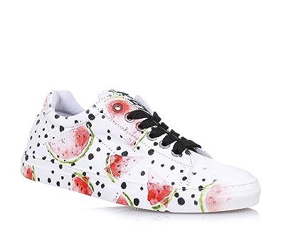 bb207ec131447a BE KOOL - Weißer Schuh mit Schnürsenkeln aus Leder
