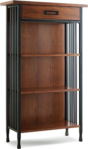 Leick Home Ironcraft Bookcase Mantel Height Medium Oak