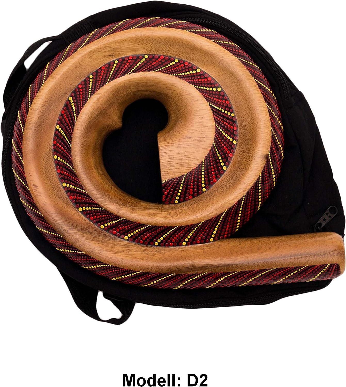 Didgeridoo Rundform Instrument Naturmaterialien Reisetasche Spirale Australien