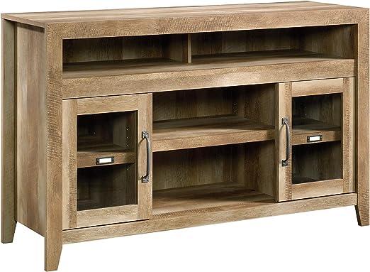 Amazon Com Sauder Dakota Pass Entertainment Fireplace Credenza For Tv S Up To 60 Craftsman Oak Finish Furniture Decor