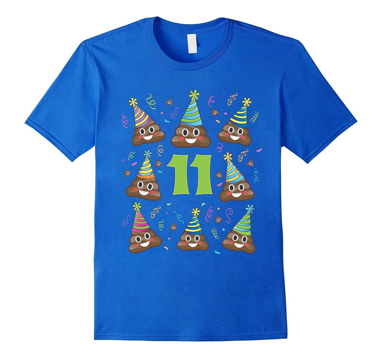 Poop Birthday Shirt Emoji 11 Eleven Year Old Girl Boy PJ Tee CD