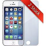 2 STÜCK - iPhone-5 Schutzfolie Panzerglas - | 0.2mm | Blasenfrei | Full HD Transparenz | Anti Fingerabdruck - Apple iPhone 5 Displayschutzfolie Panzer-Glas – MOVOJA iPhone5