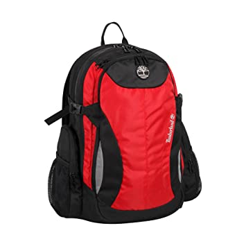 a0ad619a04192 Timberland Laconia II 18 Inch Backpack, Haute Red Jet Black, One Size