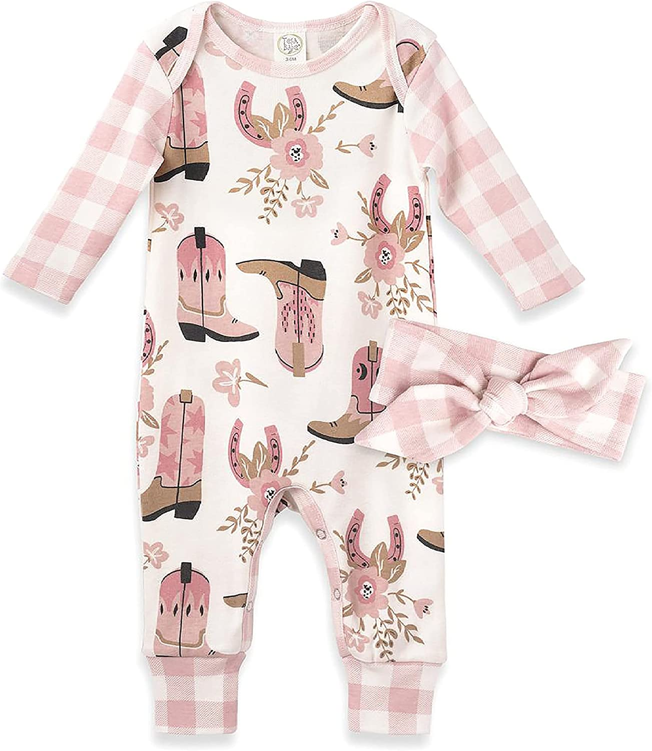 Tesa Babe Baby Girl Clothes Romper Jumpsuit Long-Sleeve Coverall Gift Set 0-18mo