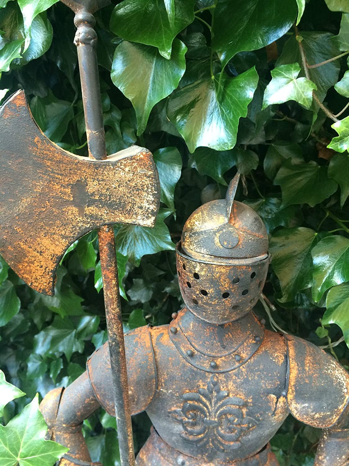 Suit of Armour Knight Antiqued Rusty Metal Shabby Chic Indoor or Outdoor