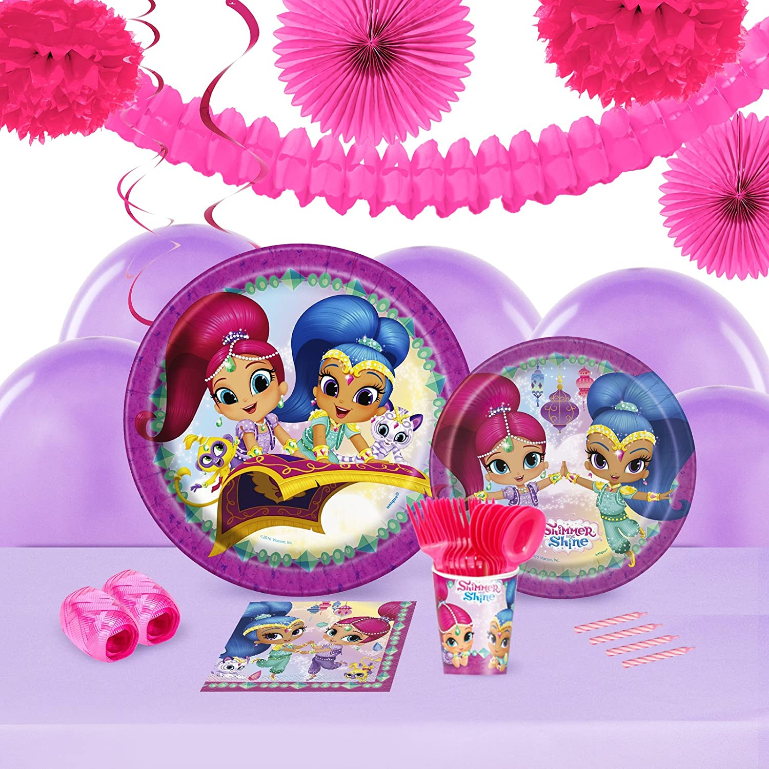 Amazon Shimmer And Shine Childrens Birthday Party Supplies
