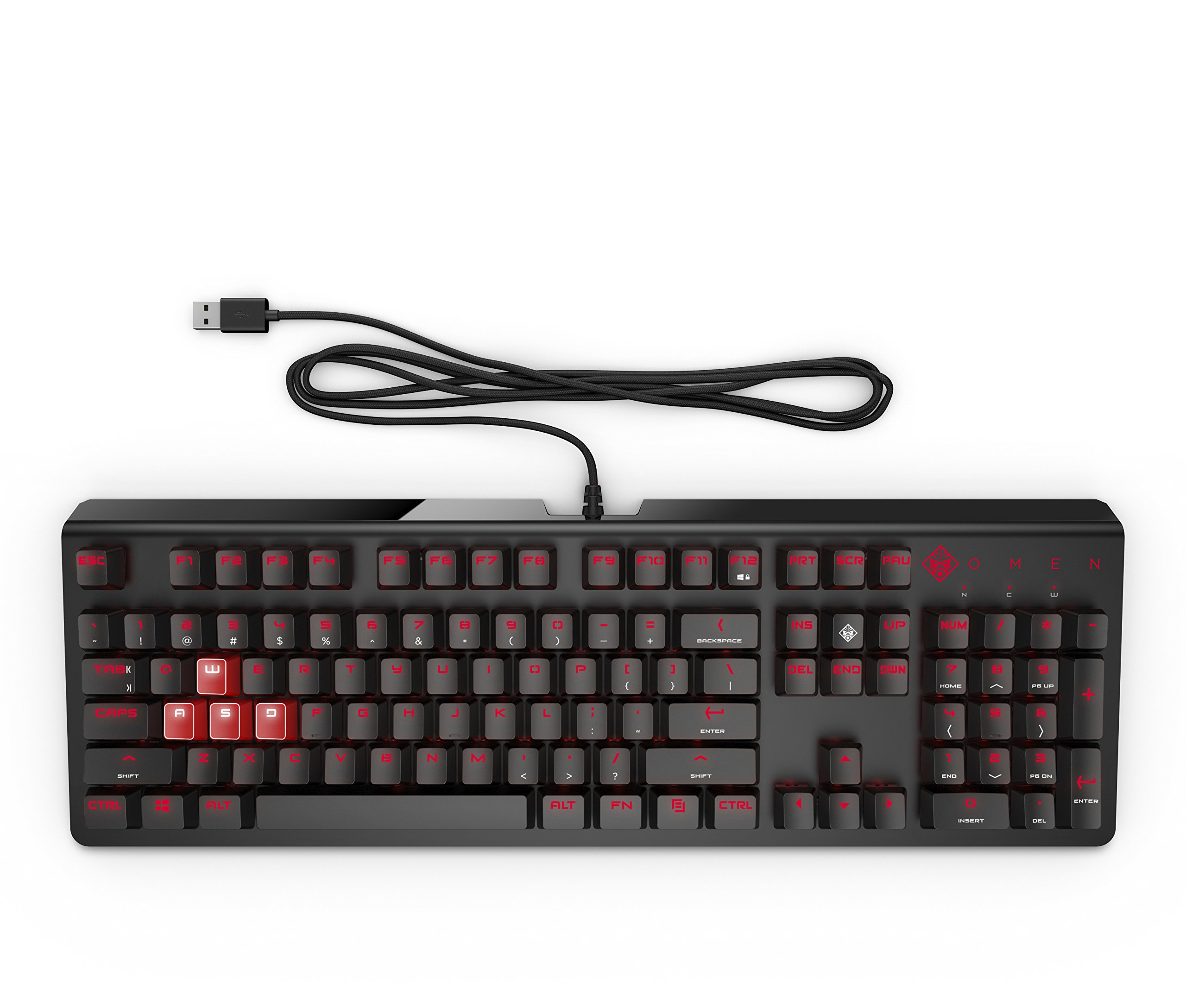 OMEN by HP Wired USB Gaming Keyboard 1100 (Black/Red) by HP