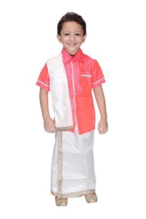 24ff84c7c3 Smuktar garments South Indian Costume for Kids (1 to 11 Years) Pink