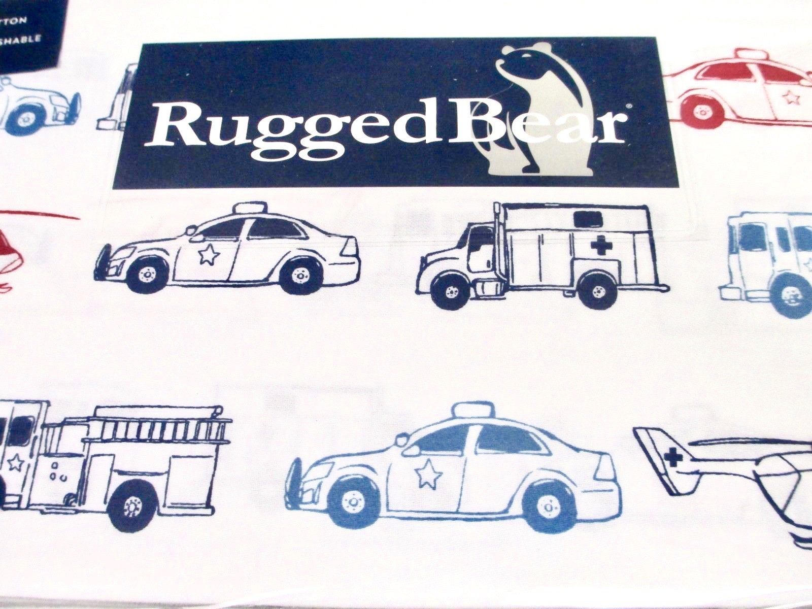Rugged Bear Emergency Vehicle Sheet Set, Twin Size