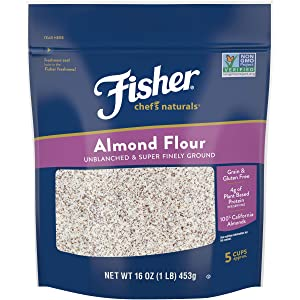 Fisher Chef's Naturals Almond Flour, 16 Ounces, Naturally Gluten Free, No Preservatives, Non-GMO