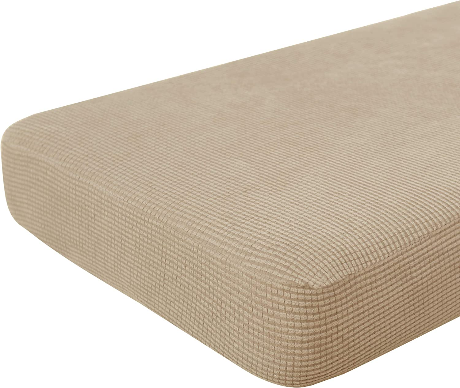 Hokway Stretch Couch Cushion Replacement Slipcovers Reversible Cushion Slipcovers Sofa Cushion Covers(Camel, Large)