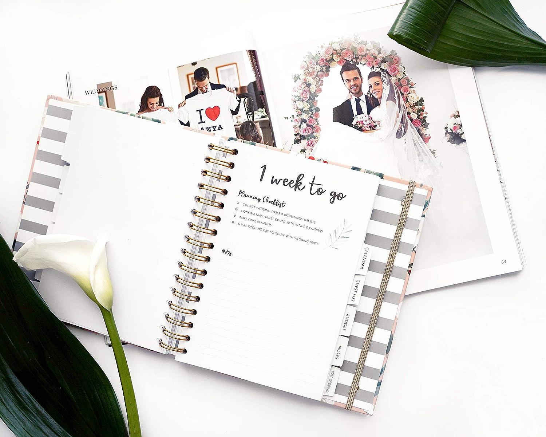 Cadeau de fian/çailles parfait pour les couples Cadeau id/éal pour un souvenir Millennial Pink Magnifique coffret cadeau souvenir Livre de planification de mariage de luxe au Royaume-Uni