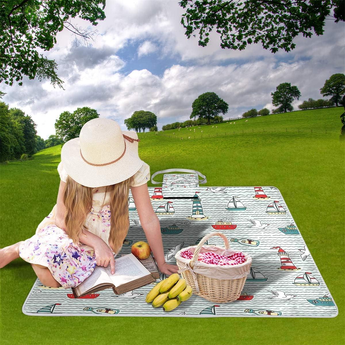 XINGAKA Coperta da Picnic Tappetino Campeggio,Stile di Vita Motivazione Citazione Vernice Stampa,Giardino Spiaggia Impermeabile Anti Sabbia 11
