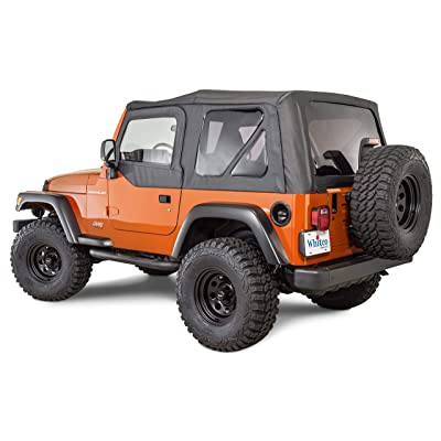 Whitco 35111237 Jeep Wrangler OEM Factory Style Replacement Soft Top with Tinted Glass and Black Oxford Fabric Interior Spice Denim 97-06 1997-2006 TJ: Automotive