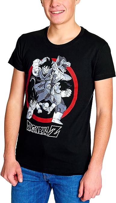Elbenwald Dragon Ball Z para Hombre de la Camiseta de algodón Negro Ozaru Lucha Goku Vegeta - M: Amazon.es: Ropa y accesorios