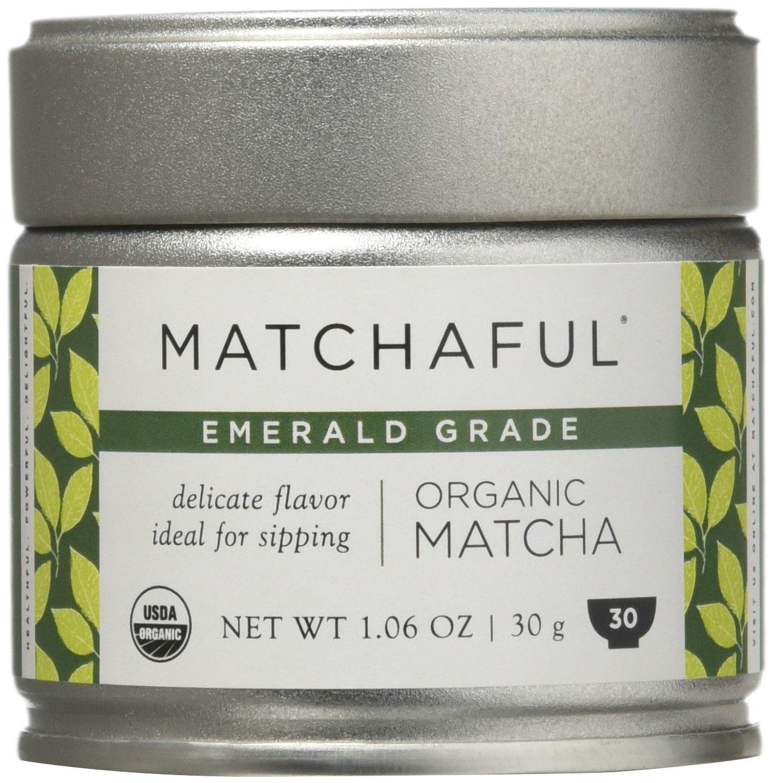 MATCHAFUL Emerald USDA Organic Ceremonial Matcha, 30 Gram