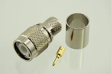 w5swl marca Premium Serie TNC macho Crimp RF Radio Conector para tipo 400 de baja pérdida