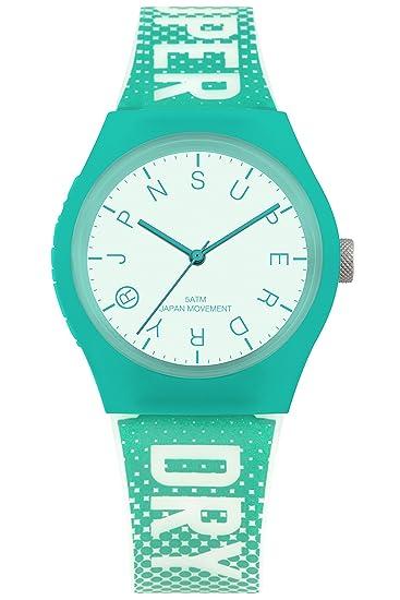 Superdry Reloj Analógico para Mujer de Cuarzo con Correa en Silicona SYL224N: Amazon.es: Relojes