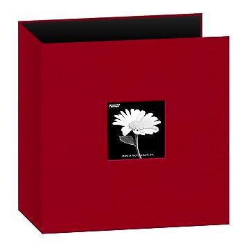 styles de mode prix plancher dernière collection Pioneer Albums Photo Album classeur 3 Anneaux Tissu avec fenêtre 21,6 x  27,9 cm – Rouge,