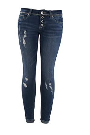 6e32491c54a657 by Eight2Nine Damen Skinny Jeans Used Destroyed Look mit Rissen (36)