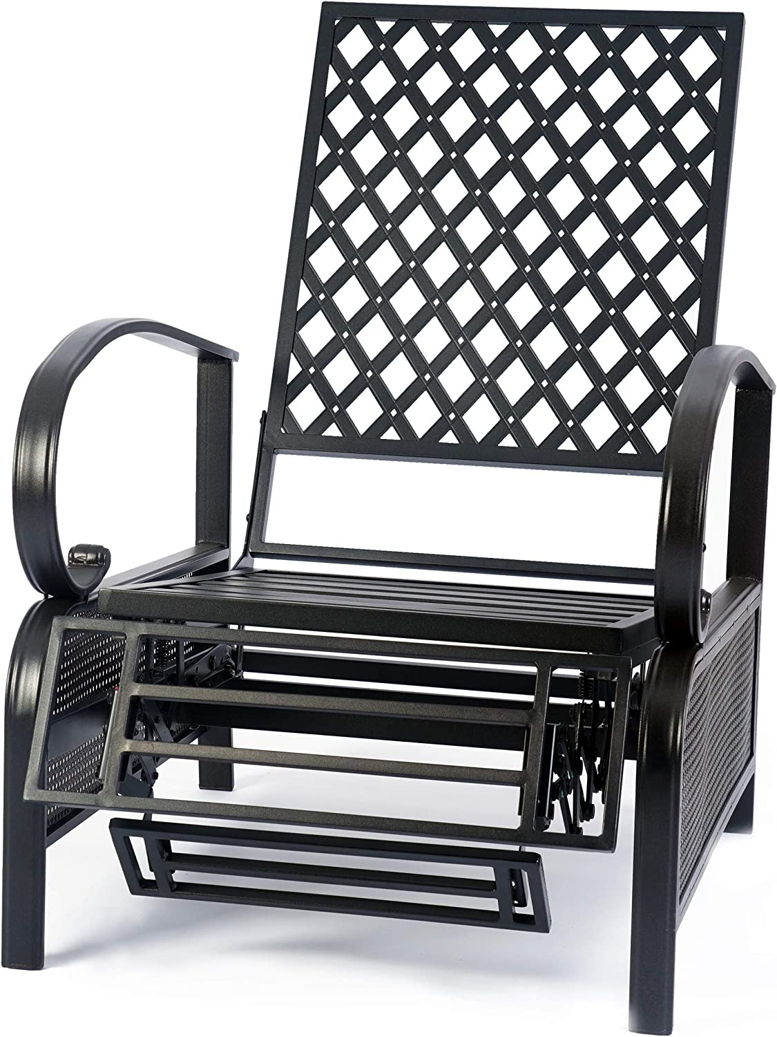 Sunbathing or Relaxation Tan Kozyard Adjustable Patio Reclining Lounge Chair with Strong Extendable Metal Frame and Removable Cushions for Outdoor Reading