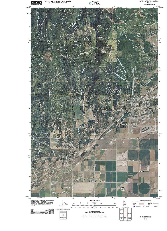 Amazon Com Idaho Maps 2011 Rathdrum Id Usgs Historical