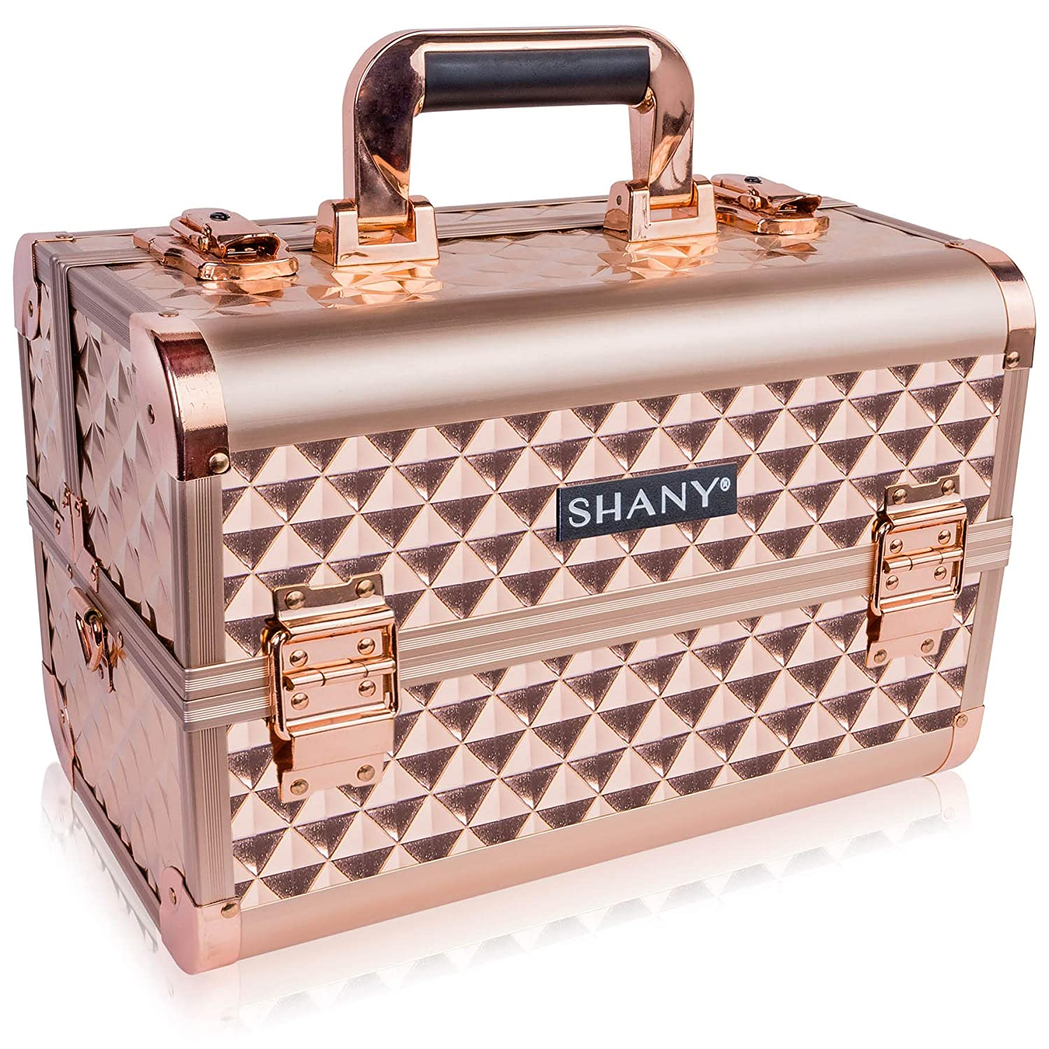 SHANY Premier Fantasy Collection Makeup Artists Cosmetics Train Case - ROSE GOLD