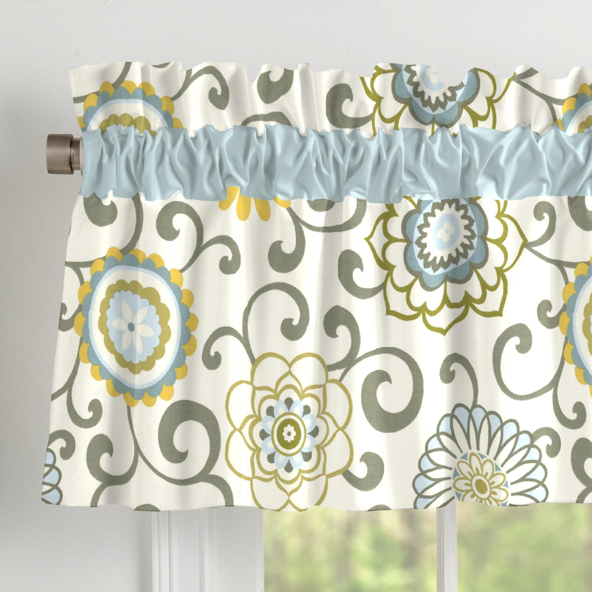 Carousel Designs Spa Pom Pon Play Window Valance Rod Pocket