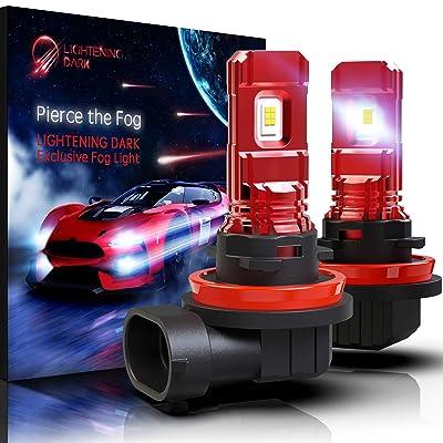LIGHTENING DARK H11 H8 H9 LED Fog Light Bulb/DRL, 5530 Chips 800 Lumens 6000K Cool White (Contains 2 Bulbs): Automotive