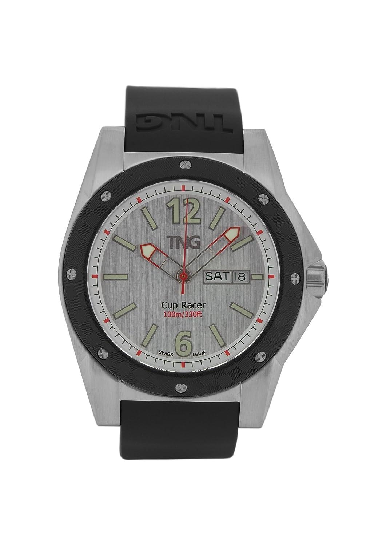 TNG Herren-Armbanduhr Analog Plastik Schwarz TG667.30571.11PV