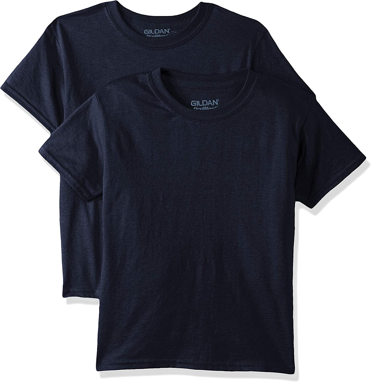 Gildan Kids' Big DryBlend Youth T-Shirt, 2-Pack