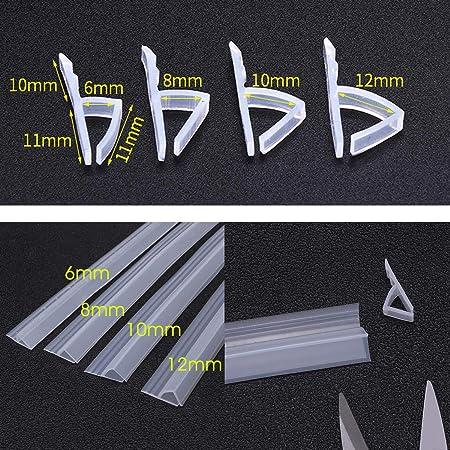 dDanke - Tira de Sellado Flexible de 100 cm de Longitud para mampara de baño o Ducha (Cristal de 6-12 mm de Grosor), 10 cm: Amazon.es: Hogar