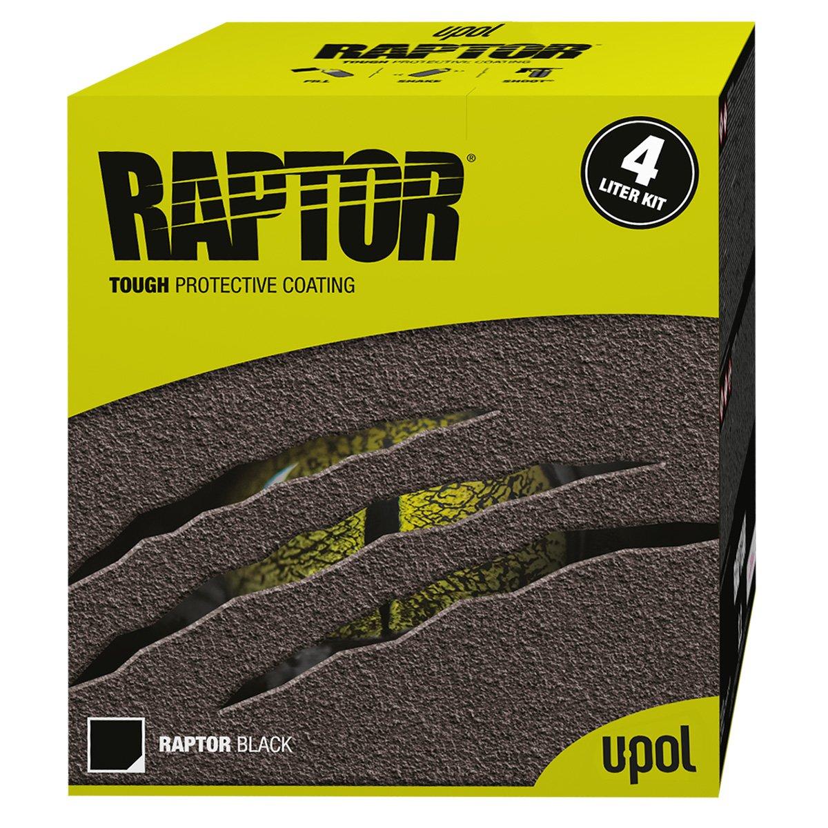 Raptor U-Pol Products Black Truck Bed Liner Kit - 4 Liter 0820V